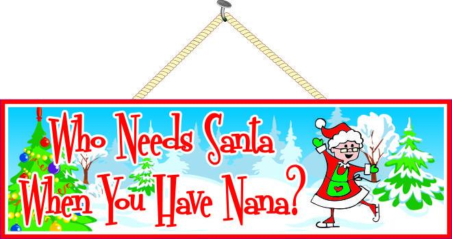 Grandmother quote Christmas Sign