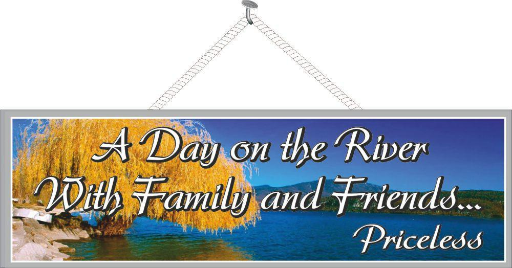 Gold Tree Inspirational Quote Sign with River