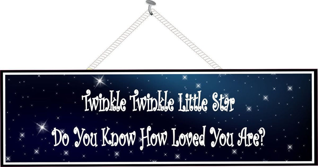Twinkle Twinkle Inspirational Sign with Dark Sky & Stars