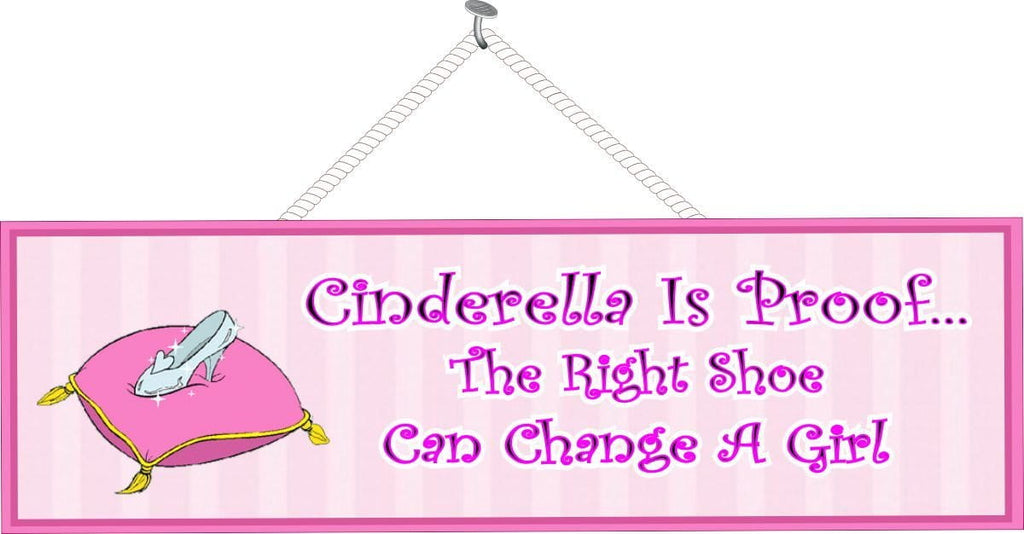Cinderella Shoe Sign in Pink