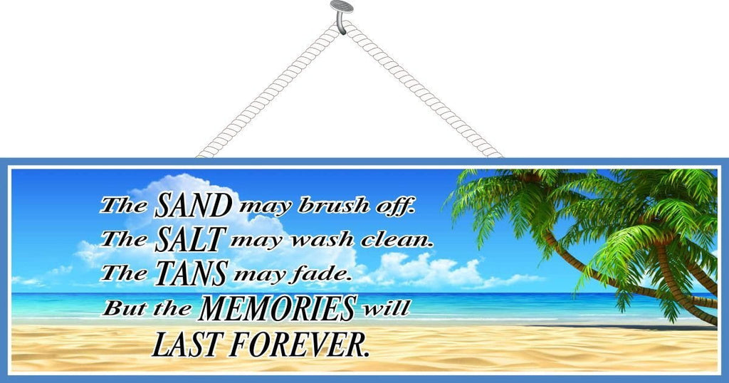 Tropical Island Sign with Beach Quote