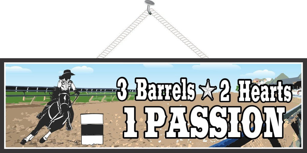 Barrel Racing Sign for Horse Lovers