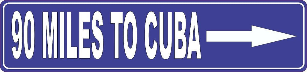 Cuba Road Sign in Blue