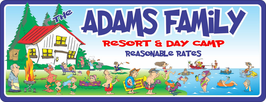 Funny Family Resort Custom Camp Sign