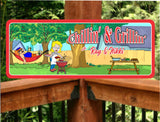 Chillin' & Grillin' Backyard BBQ Personalized Sign