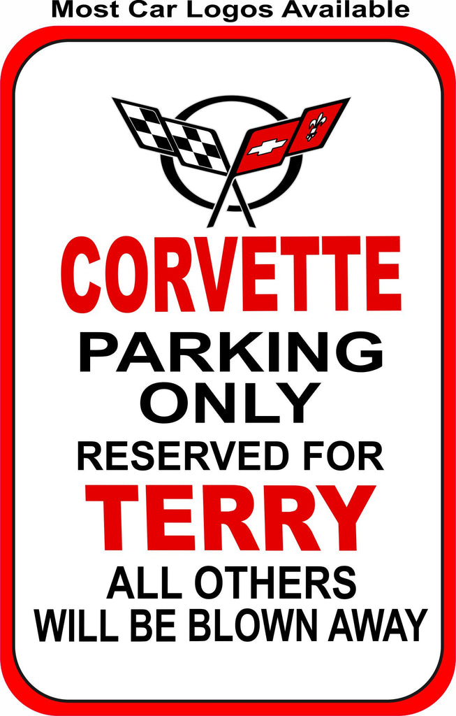 Personalized Parking Sign with Car Logo