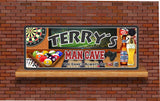 Personalized Sports Bar Man Cave Sign with Dart Board, Beer & Pool Balls