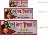 Personalized Classic Captain Morgan Bar Sign with Green Parrot - 3 sizes