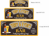 Personalized Home Bar Sign with Neon Lights Font  - 3 sizes