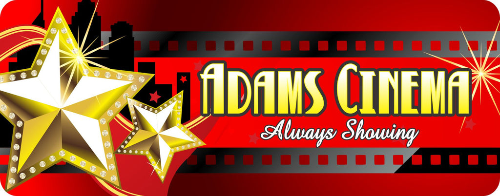 Home Theater Stars Custom Sign for Movie Room or Man Cave