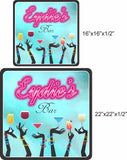 Personalized Bar Sign with Pink Neon Lights Font - 2 sizes