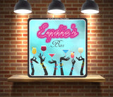 Custom Bar Sign with Pink Neon Lights Font