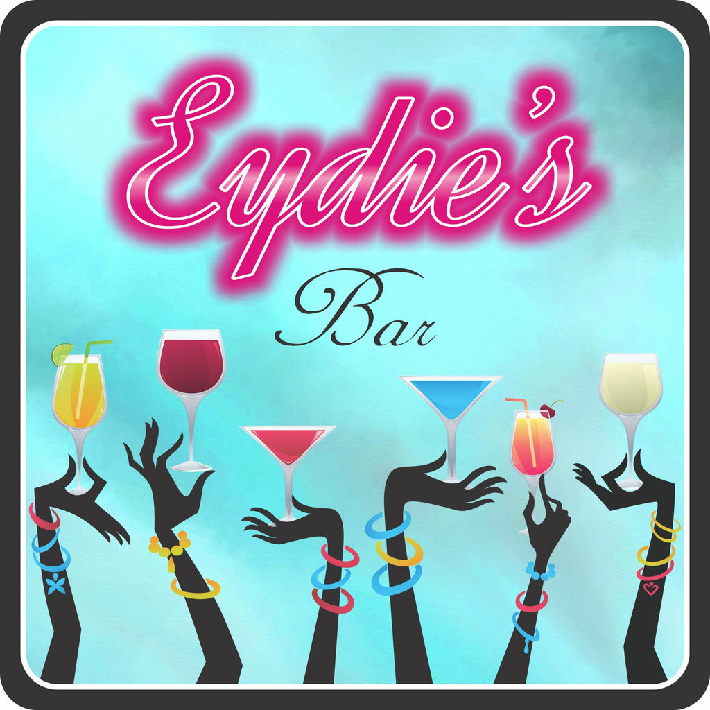 Personalized Bar Sign with Pink Neon Lights Font