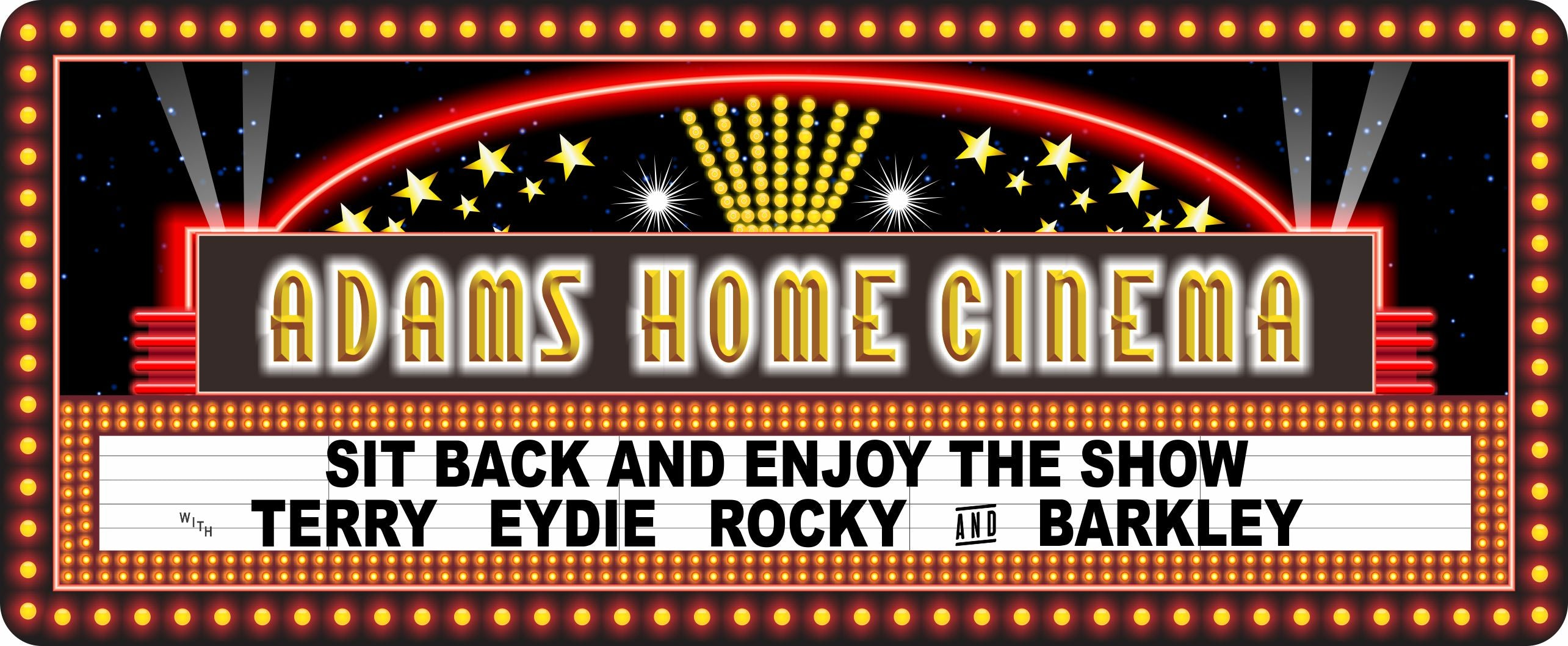 Movie Signs Home Theater Fun Sign Factory