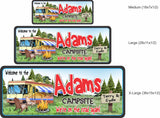 Personalized RV Camp Sign with Custom Name - 3 sizes