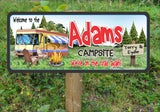 Personalized RV Camp Sign with Custom Name