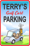 Lay Claim To Your Parking Spot With This Fun Golf Cart Parking Sign