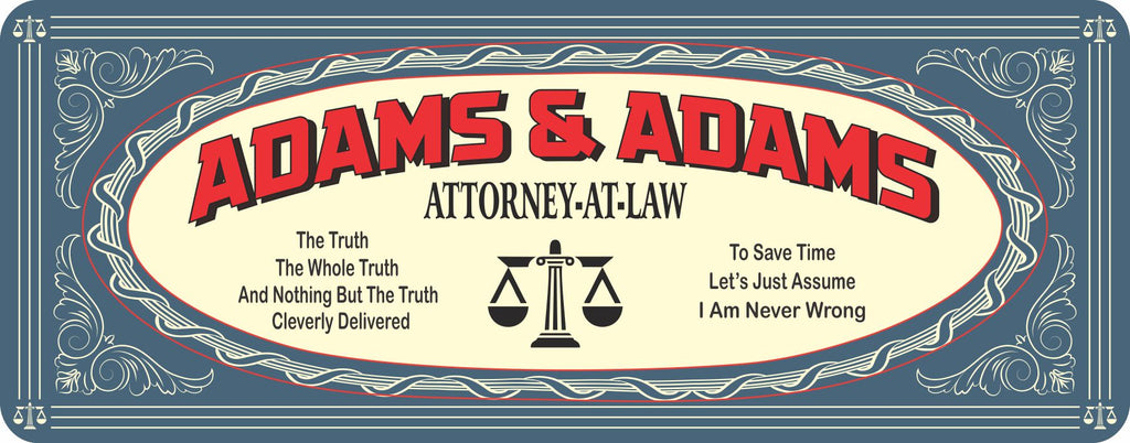 Custom Personalized Vintage Attorney at Law Sign