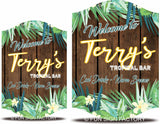 Custom Welcome Sign With Plants, Flowers, And Faux Wood Background - 2 Sizes