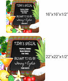 Personalized Today's Special Bar Sign With Tropical Imagery - 2 sizes