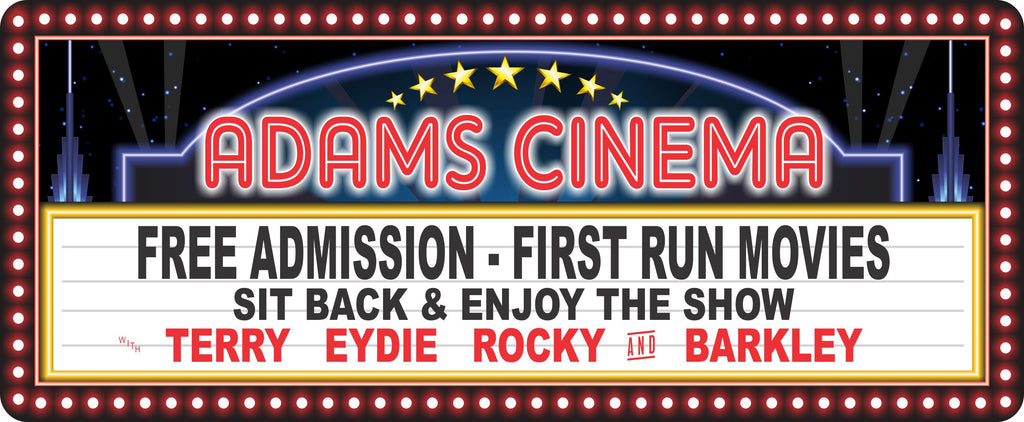 Personalized Home Cinema Sign With Retro Marquee