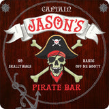Custom Pirate Bar Sign with Skull and Crossbones Meta Title