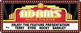 Custom Movie Theater Sign Vintage Marquee