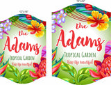 Personalized Garden Sign with Tropical Theme and Inspirational Quote - 2 sizes
