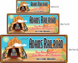 Welcome Aboard Personalized Railroad Sign with Desert Train - 3 sizes