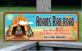 Welcome Aboard Personalized Railroad Sign with Desert Train