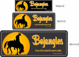 Personalized Horse Stall Name Sign with Silhouetted Horse - 3 sizes