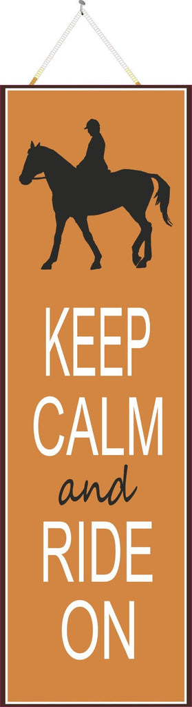Burnt Orange Keep Calm & Carry On Horse Silhouette Sign