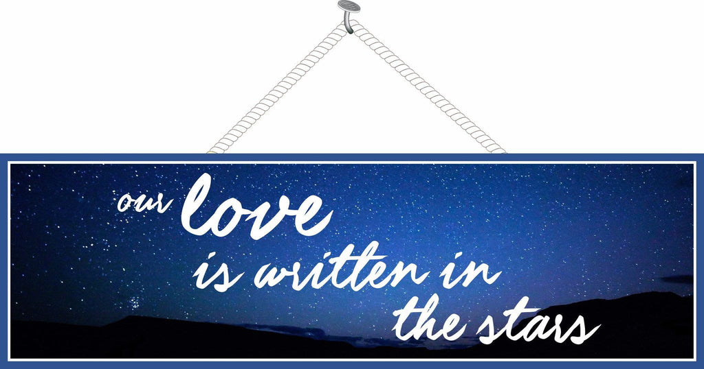 Love Quote Sign With Night Sky And Elegant Font