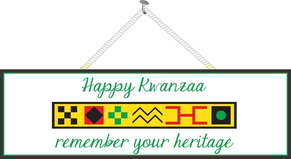 Happy Kwanzaa Sign With Traditional Colors And Symbols