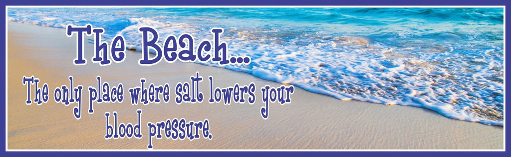 Beach Quote Sign With Photographic Ocean Background