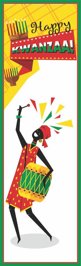 Happy Kwanzaa Sign with Dancing Woman