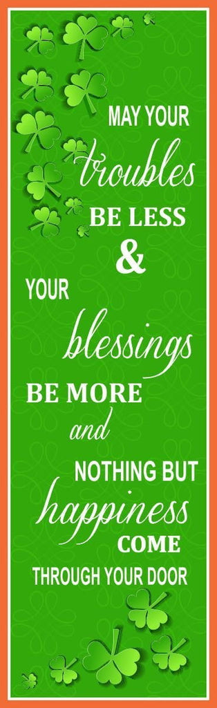 Irish Blessing Sign with Shamrocks and Poem
