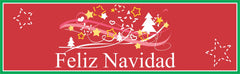 Red Feliz Navidad Sign with Stars