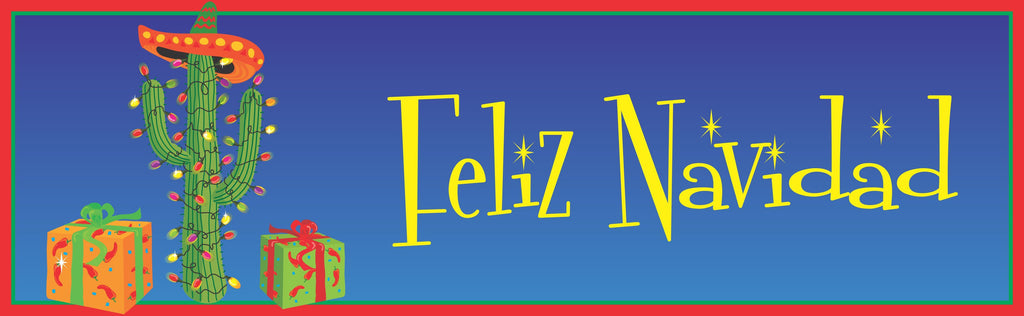 Feliz Navidad Sign with Cactus Christmas Tree
