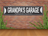 Grandpa's Garage Street Sign