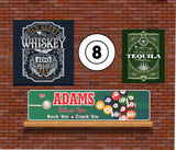 Personalized Billiard Sign - Pool Room Decor - Game Room Sign