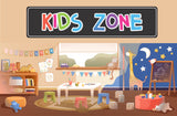 Kids Zone Colorful Kids Room Sign Playroom Sign for Door or Wall