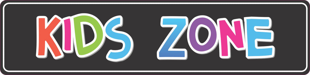 Kids Zone Colorful Kids Room Sign, Playroom Signs