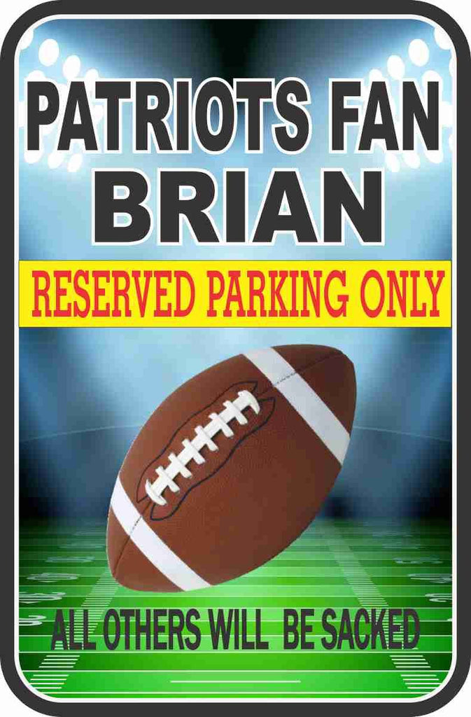 Personalized Football Parking Sign With Funny Quote, Football or Helmet, Football Lovers Gift