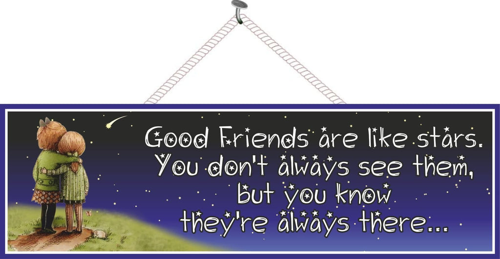 Starry Night Friendship Quote Sign