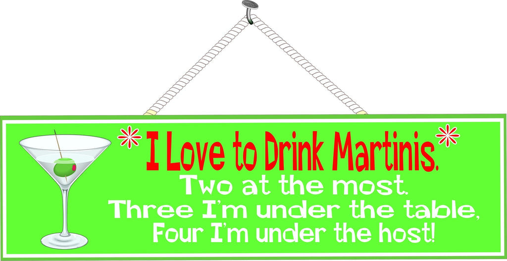 Funny Quote Sign with Martini