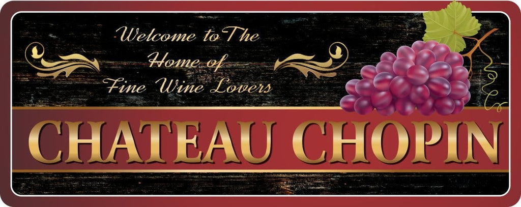 Purple & Gold Welcome Sign for Wine Lovers