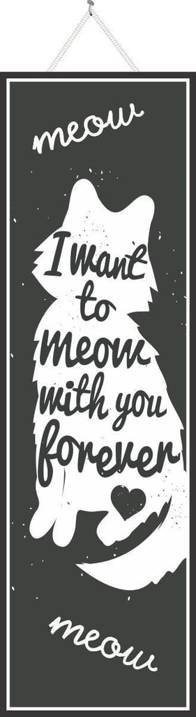Cat Silhouette Sign in Black and White