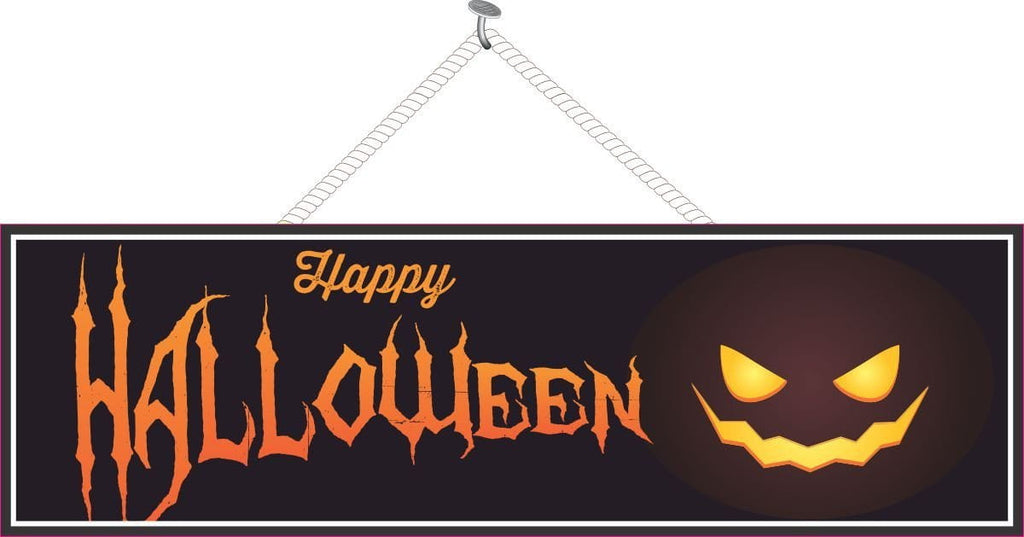 Jack o Lantern Halloween Welcome Sign