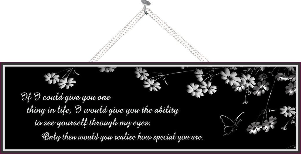 Black & White Love Quote Sign with Butterfly